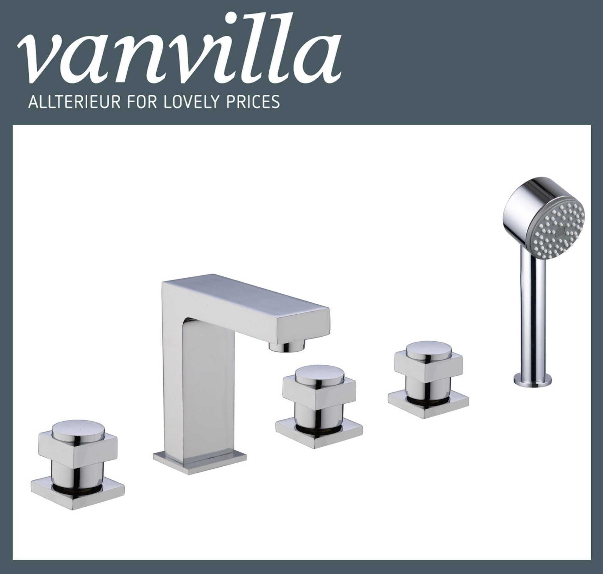 vanvilla Design 5 Loch Armatur Badewanne Wannenrandarmatur 90002