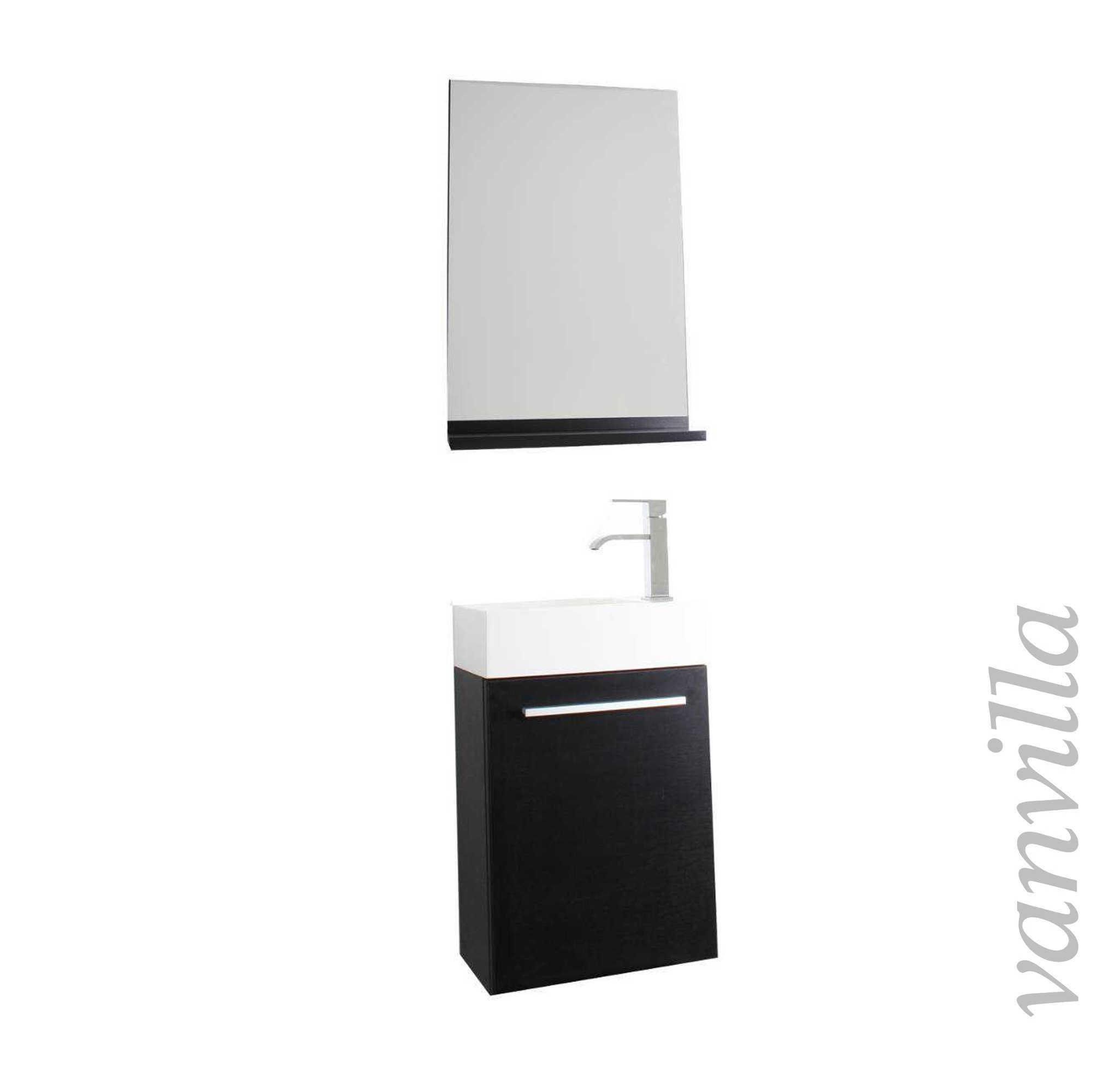 badm bel g ste wc waschtisch spiegel set 6 farben. Black Bedroom Furniture Sets. Home Design Ideas