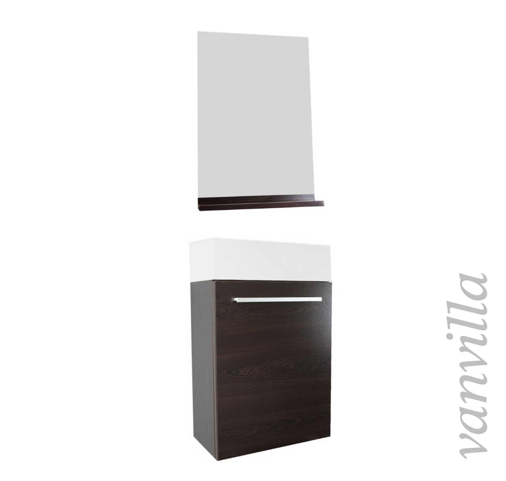 badm bel g ste wc waschtisch spiegel set 6 farben handwaschbecken ebay. Black Bedroom Furniture Sets. Home Design Ideas