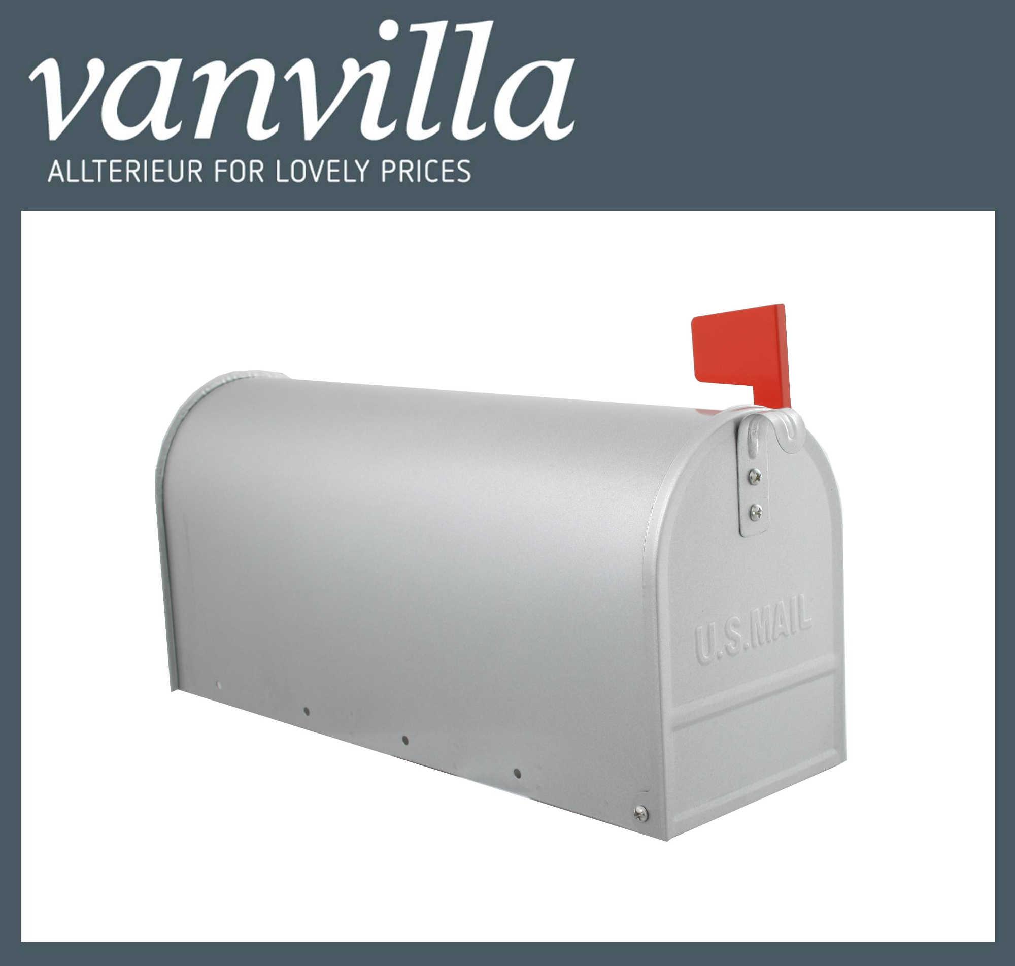 US-Mailbox Postkasten Briefkasten Silber Stand
