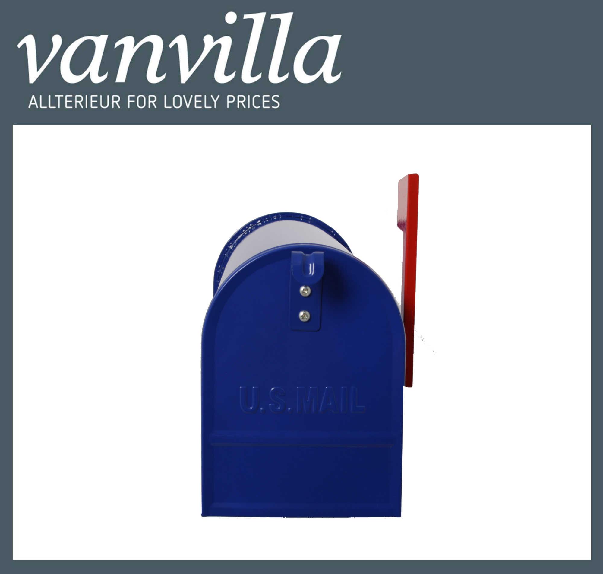 US-Mailbox Blau Wand