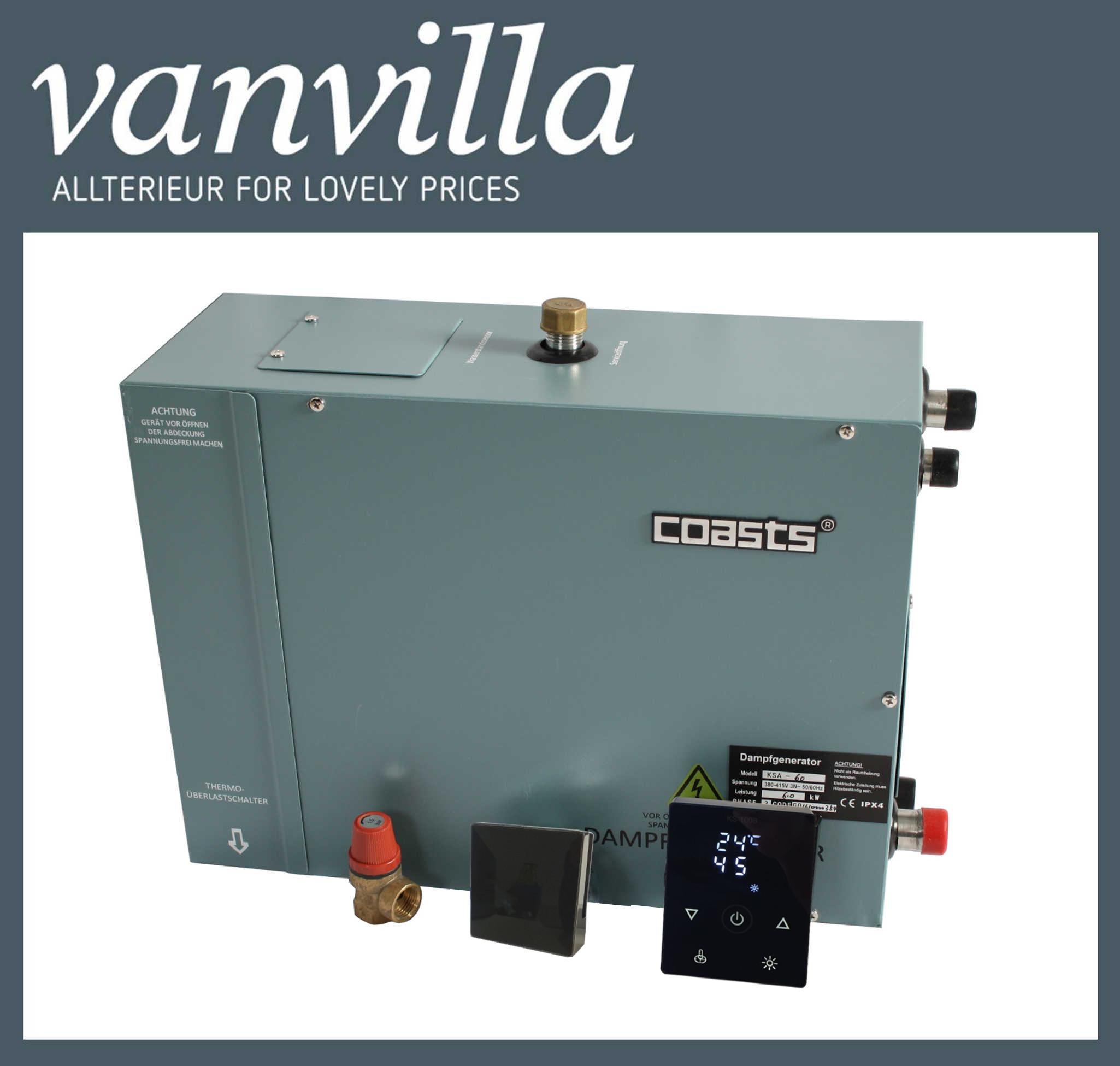 COASTS Dampfgenerator, 3KW / 220V inkl. KS100B