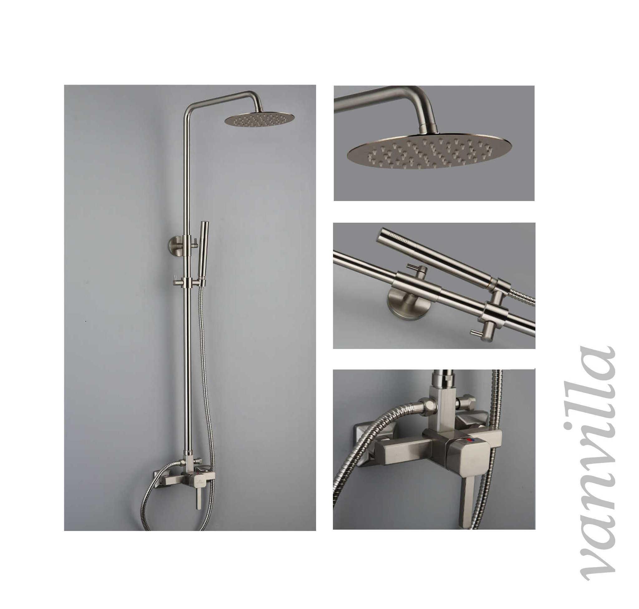 Duscharmatur Set : Duscharmatur-Brausearmatur-Dusch-Set-Regendusche-Brausegarnitur