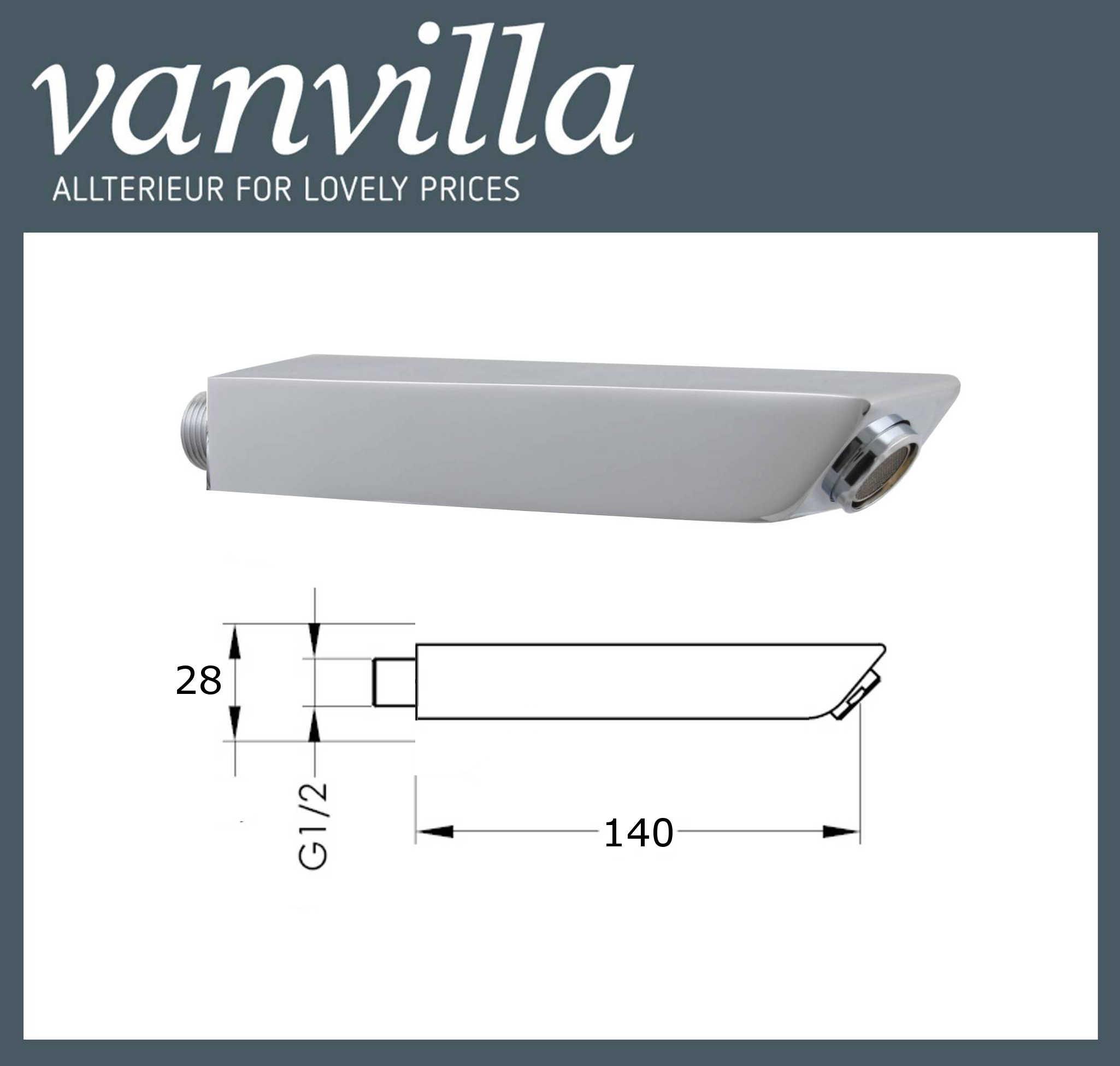 vanvilla Wanneneinlauf Badewanneneinlauf Einlauf Zulauf Wassereinlauf Modell Fly