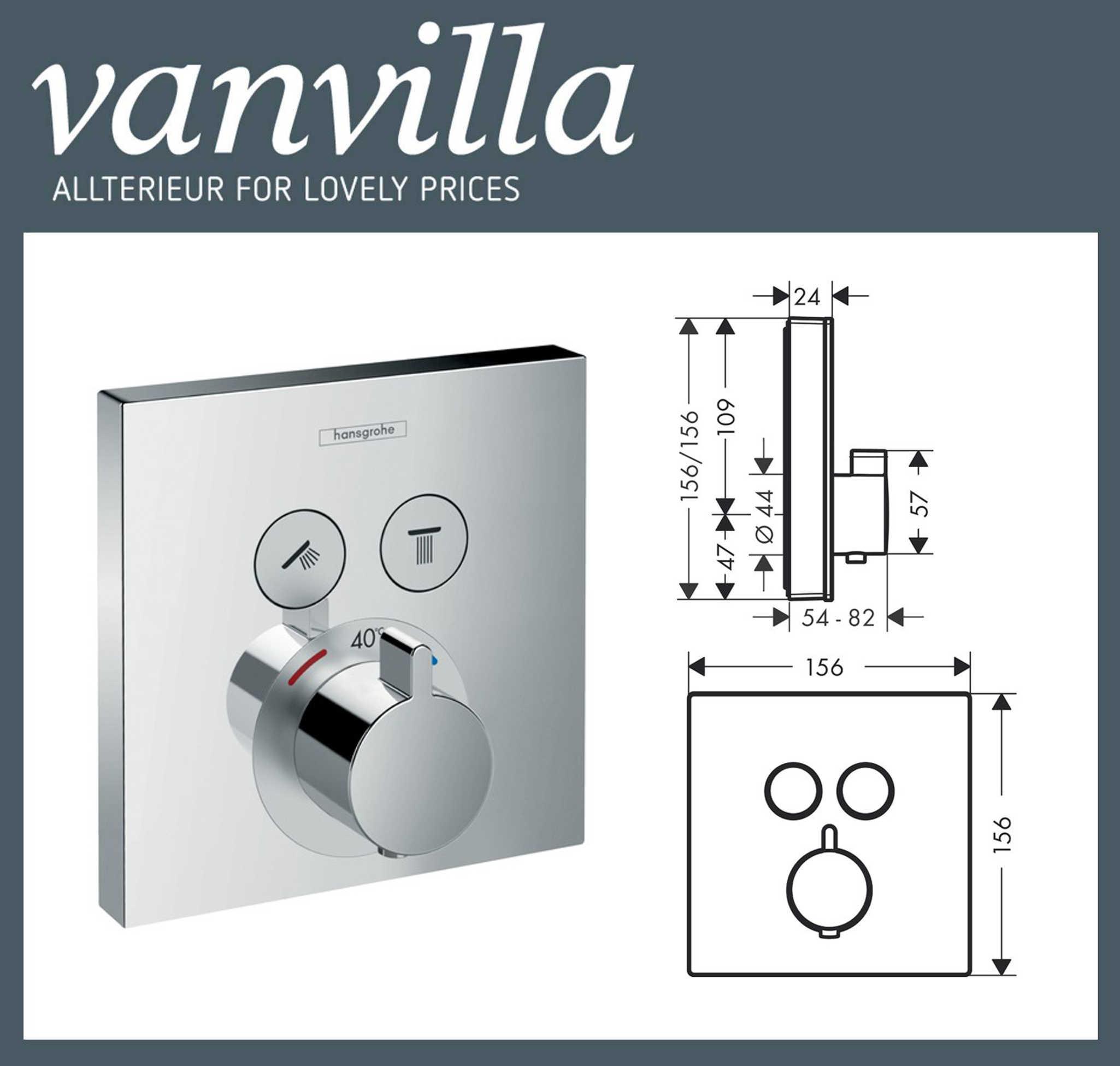 set hg02 up poliert duschkopf 2wege hansgrohe showerselect thermostat 15763. Black Bedroom Furniture Sets. Home Design Ideas