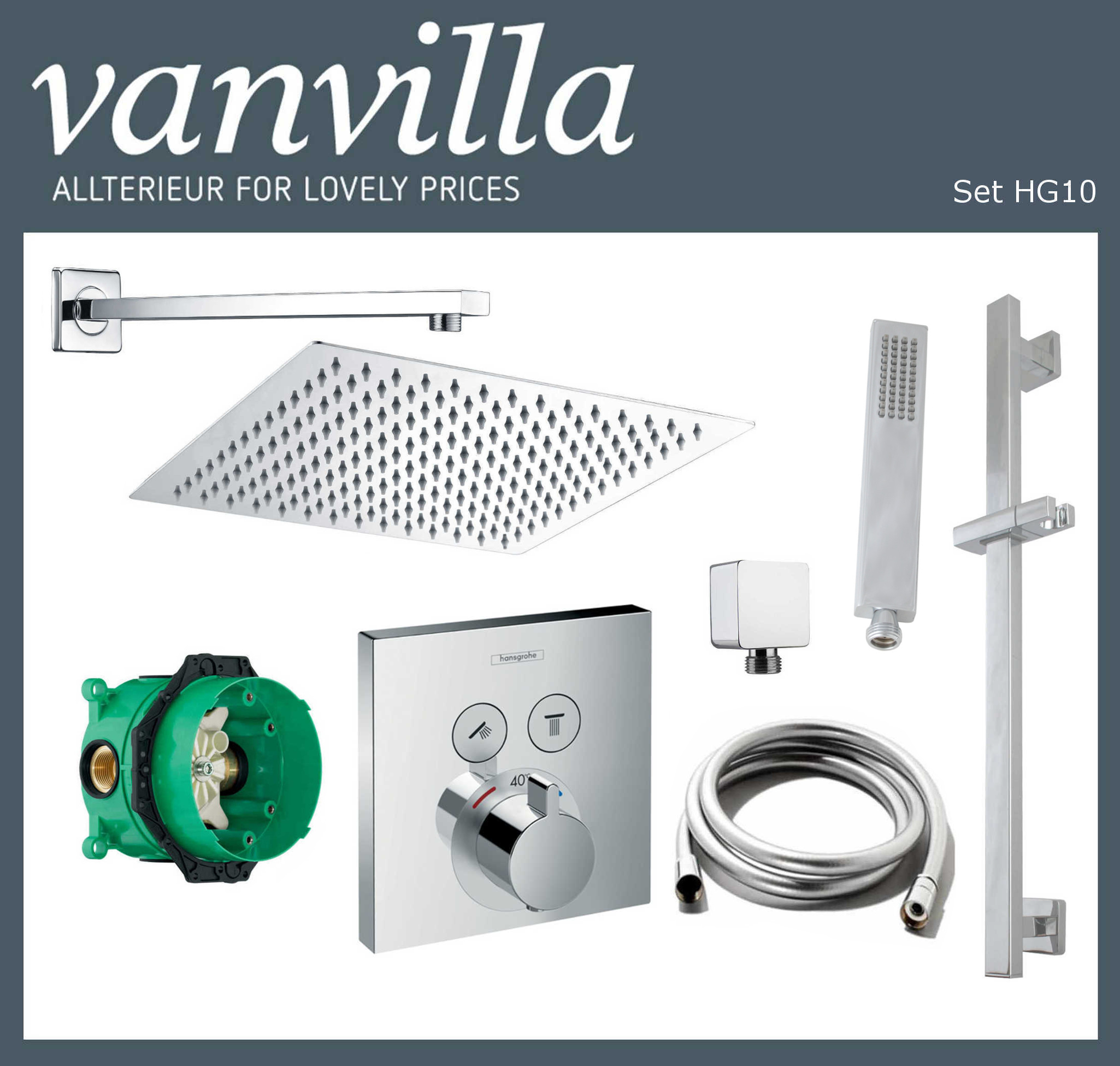 SET HG10 UP vanvilla mit Duscharmatur Hansgrohe ShowerSelect