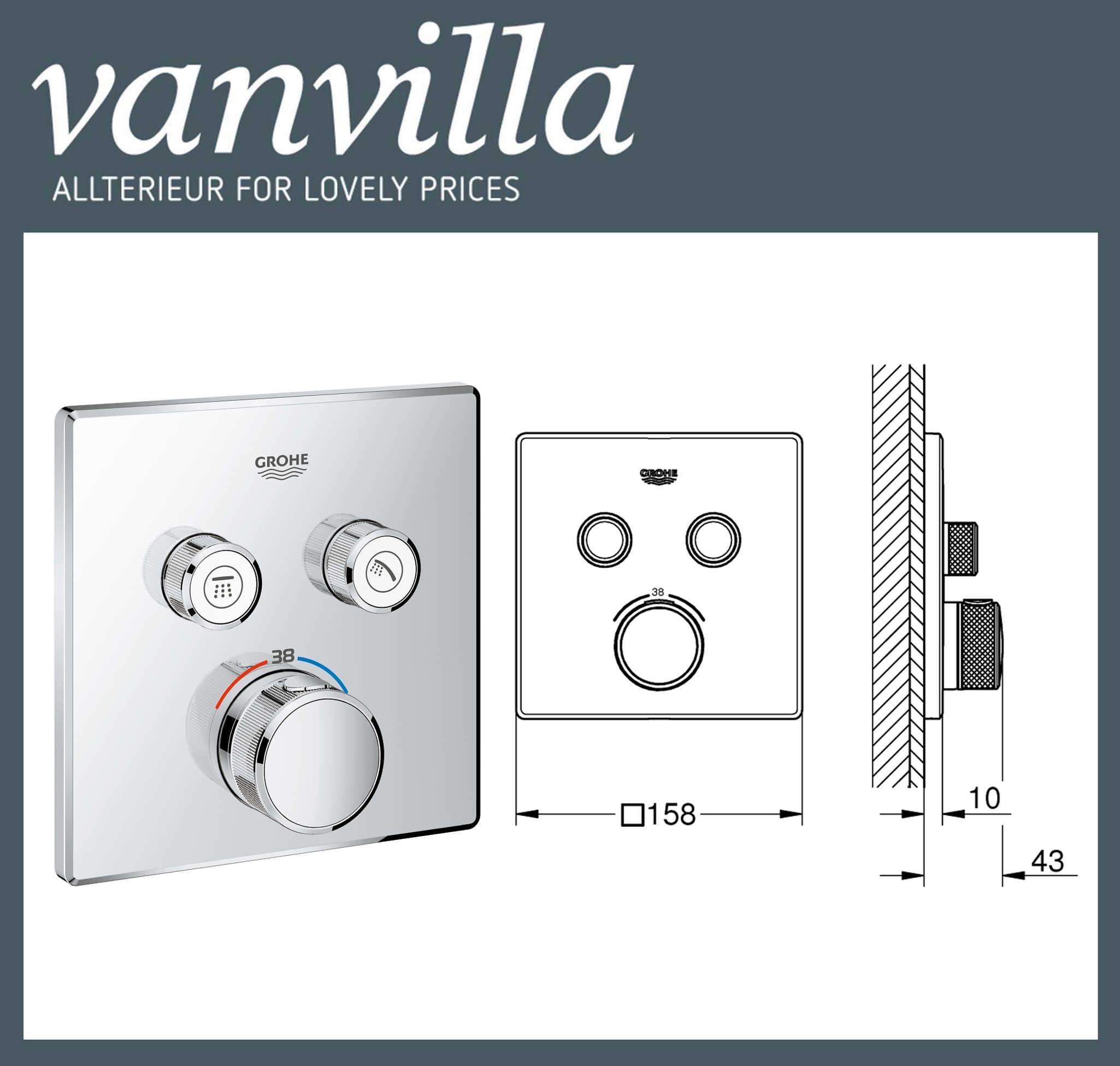 set g02 up poliert duschkopf 2wege grohe smartcontrol thermostat 29124. Black Bedroom Furniture Sets. Home Design Ideas