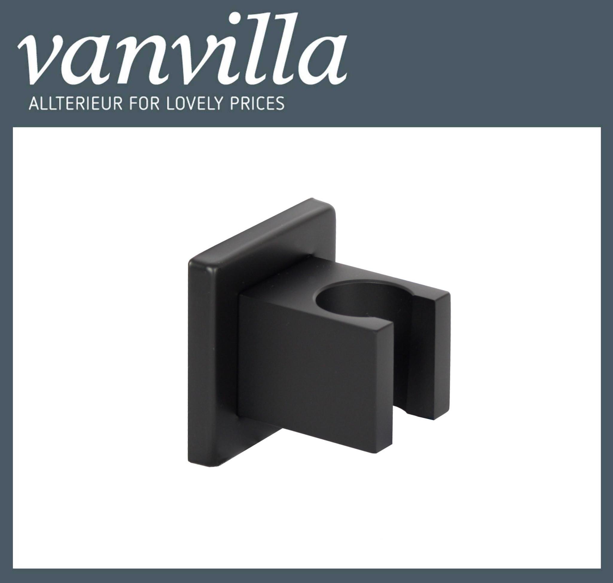 Handbrausehalter PD-H68 eckig Black schwarz matt
