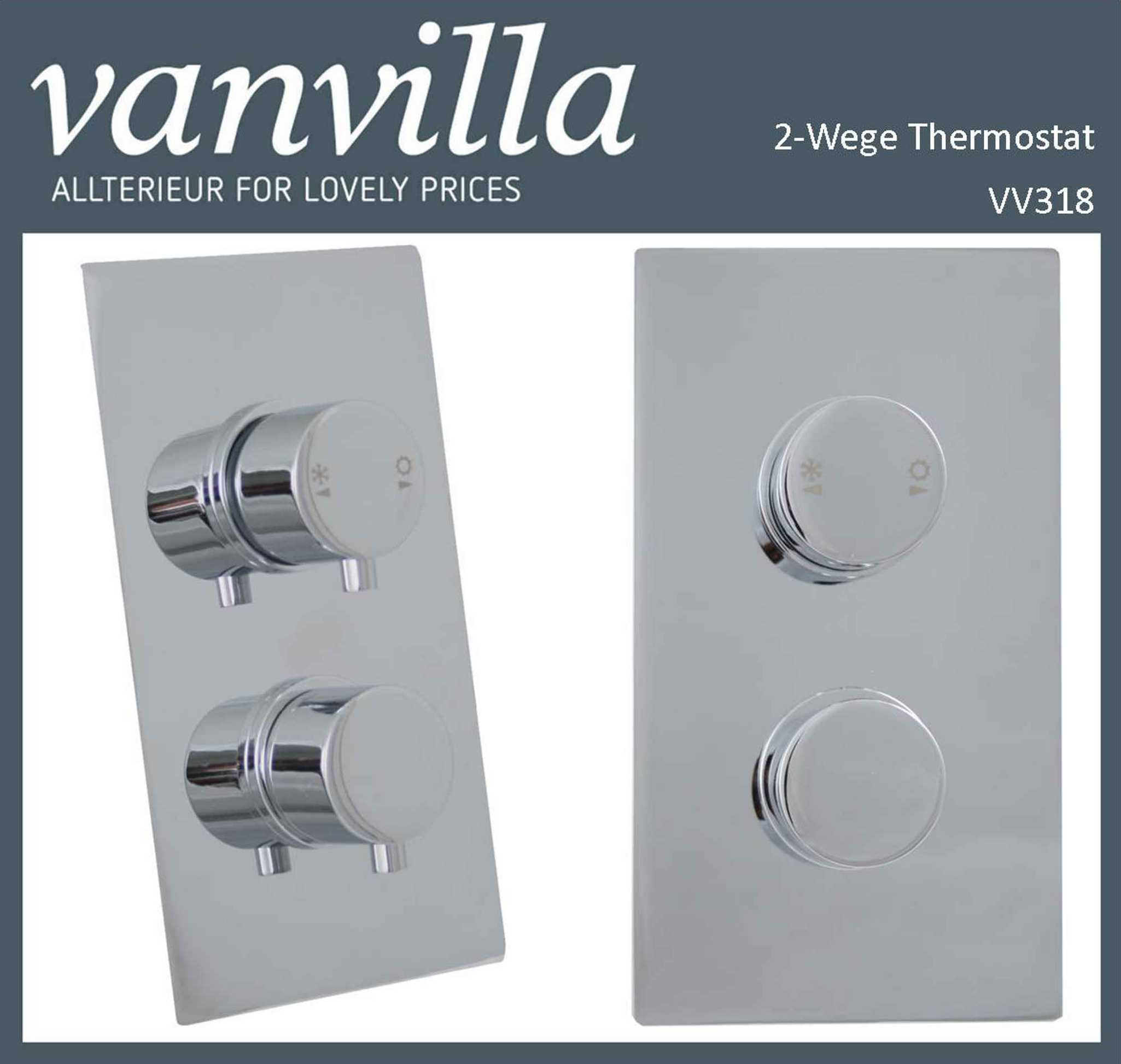 Unterputzarmatur 2-Wege SL0318(04), Thermostat, chrome