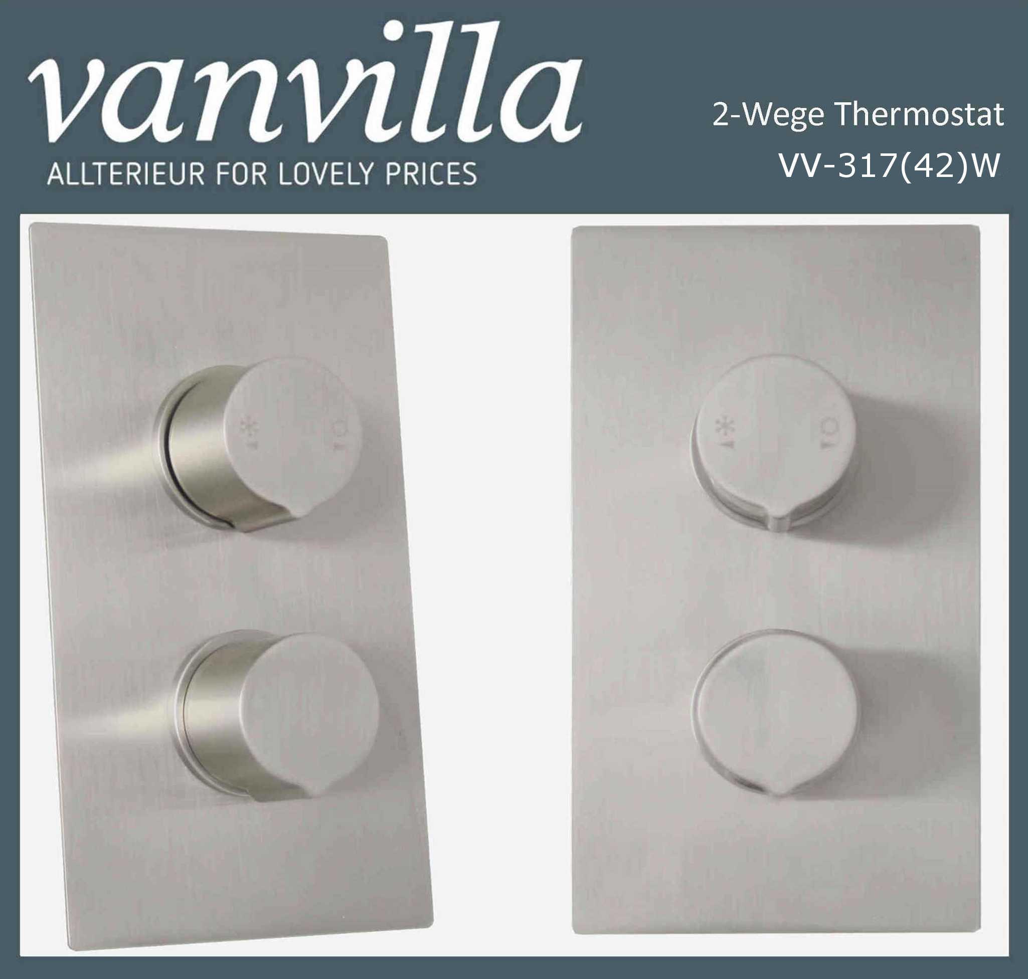 Relativ Unterputzarmatur 2-Wege SL0317(42), Thermostat, brushed CO43