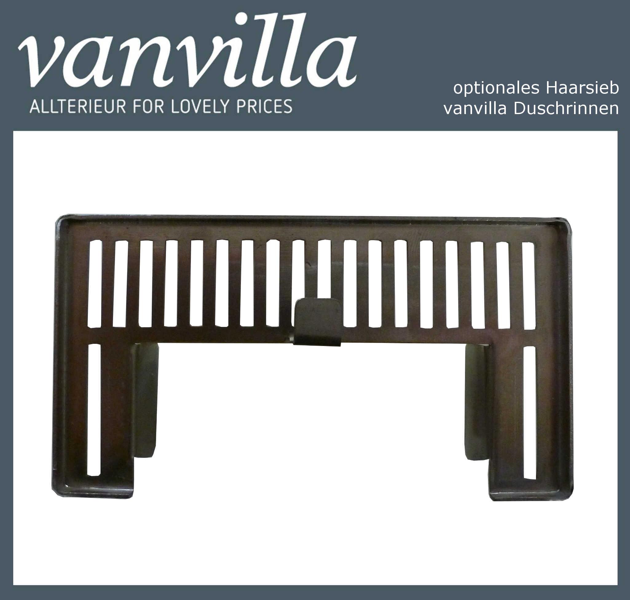 Haarsieb für vanvilla Duschrinnen