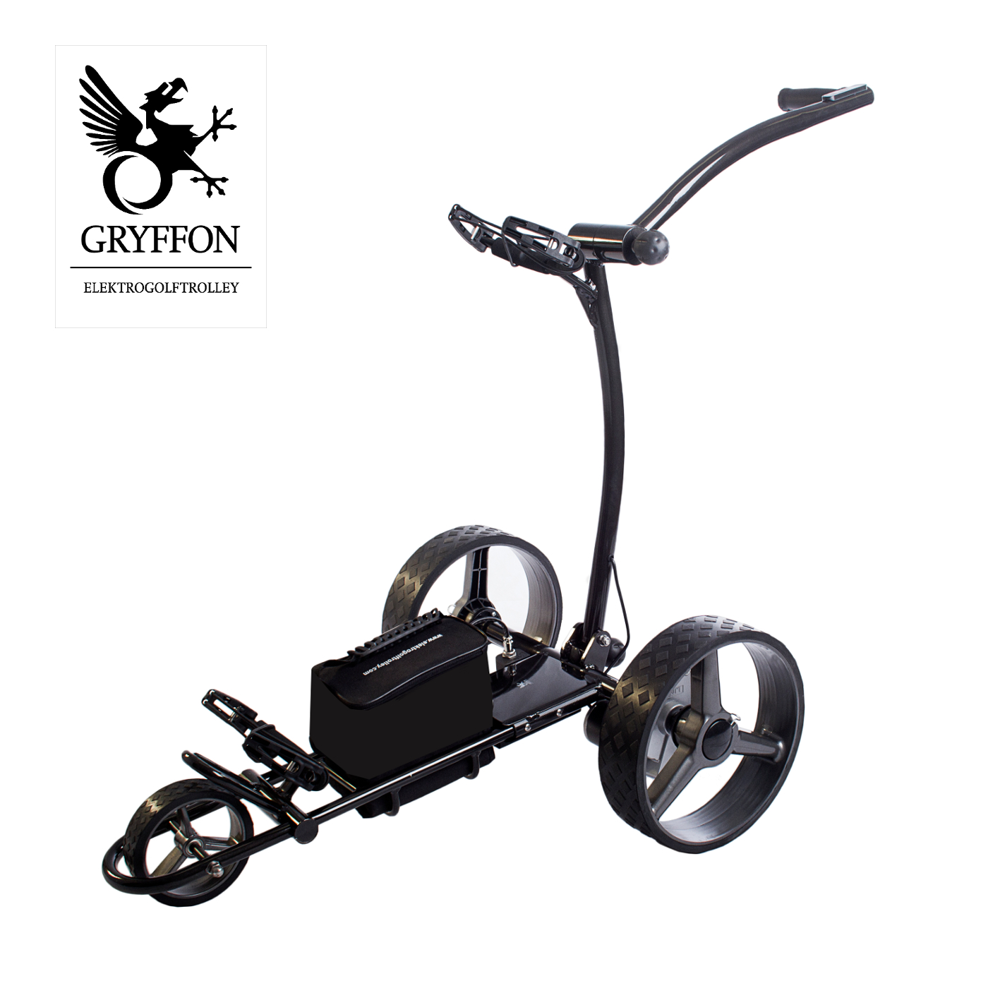 elektro golf caddy gryffon basic blei akku trolley ebay. Black Bedroom Furniture Sets. Home Design Ideas