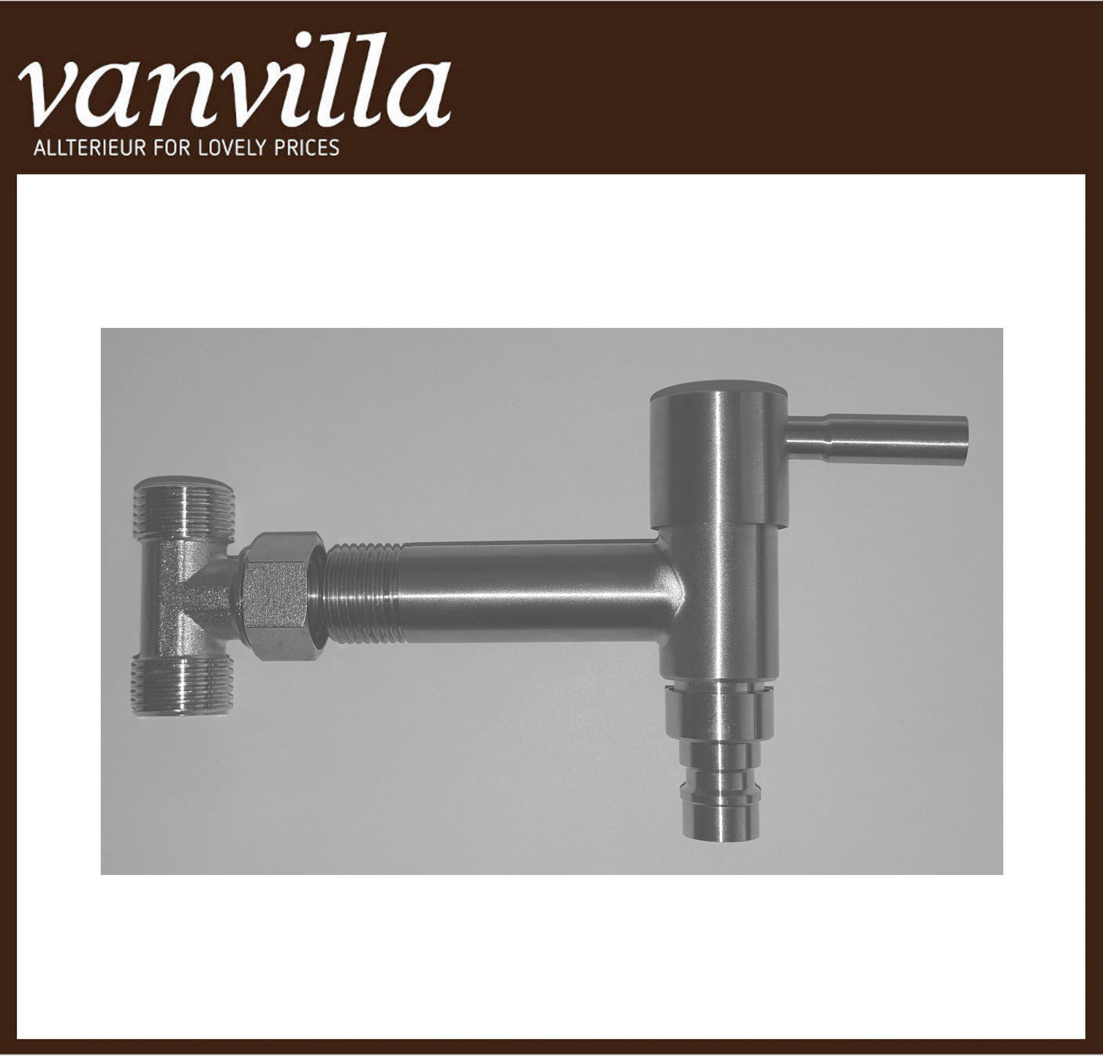 vanvilla Optionales Wasserabgangs-Set mit Hahn für Zulauf von unten