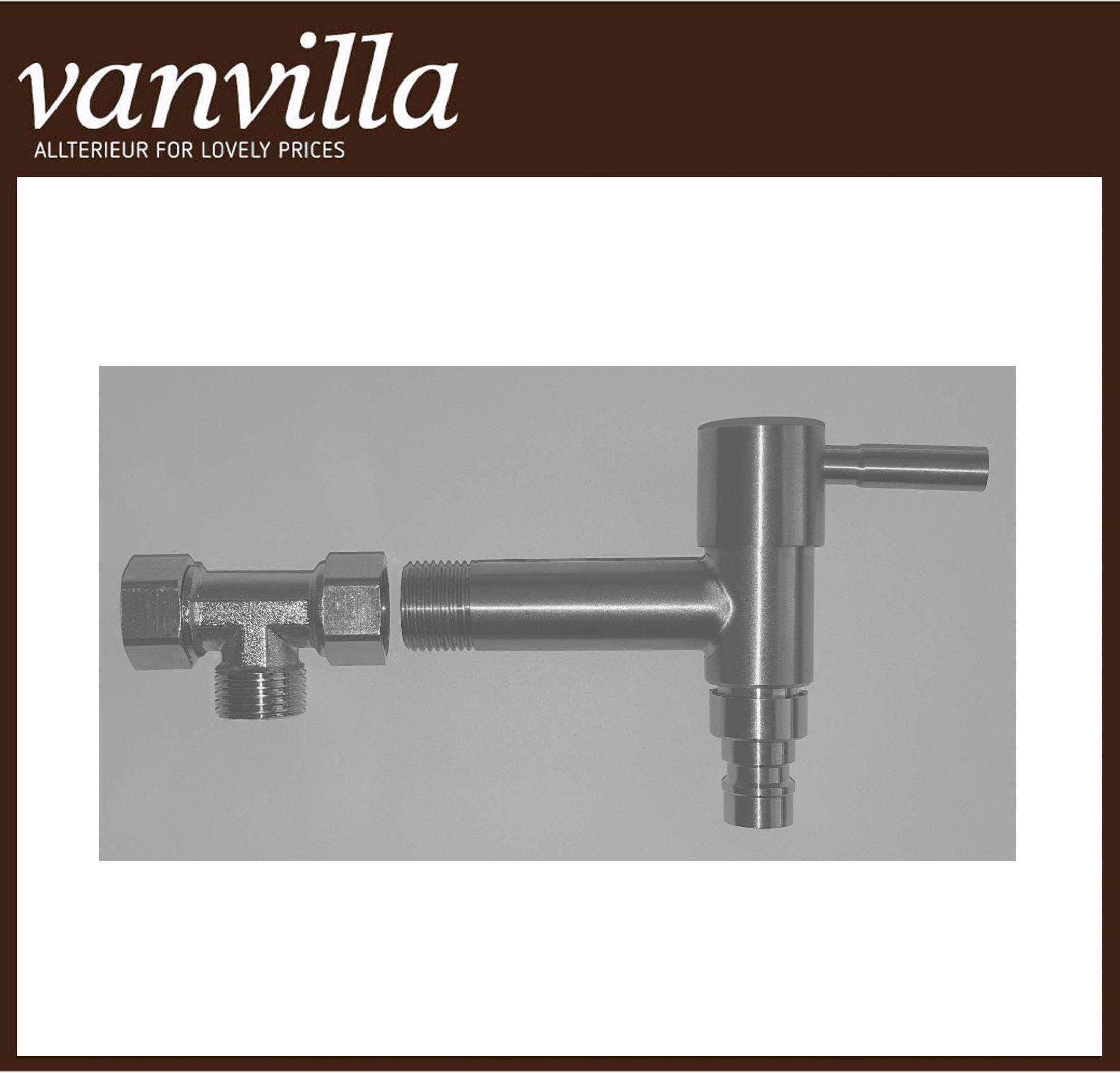 vanvilla Optionales Wasserabgangs-Set mit Hahn für Zulauf von hinten