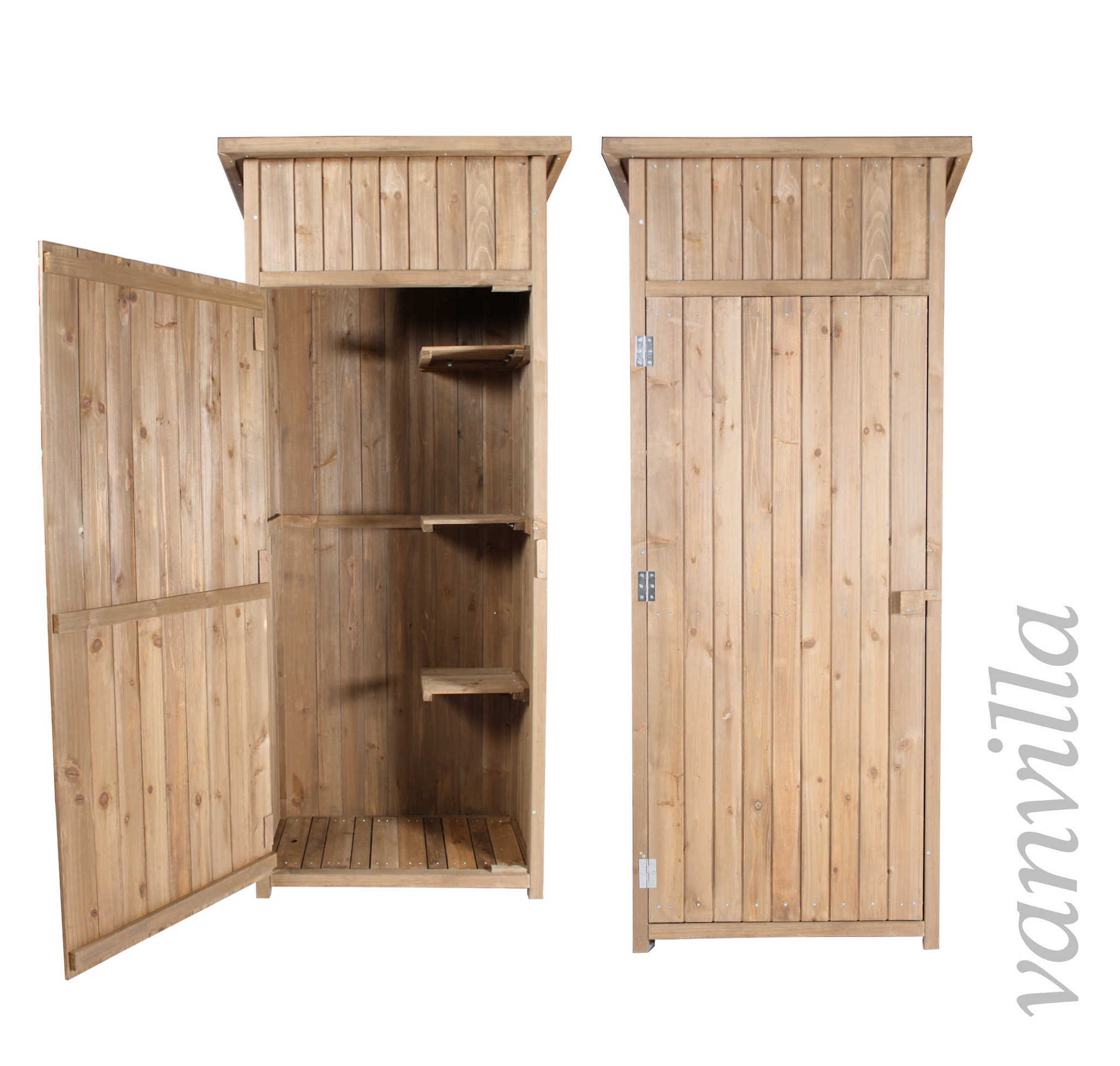 ger teschrank ger teschuppen vanvilla gartenhaus holz schuppen ger tehaus ebay. Black Bedroom Furniture Sets. Home Design Ideas