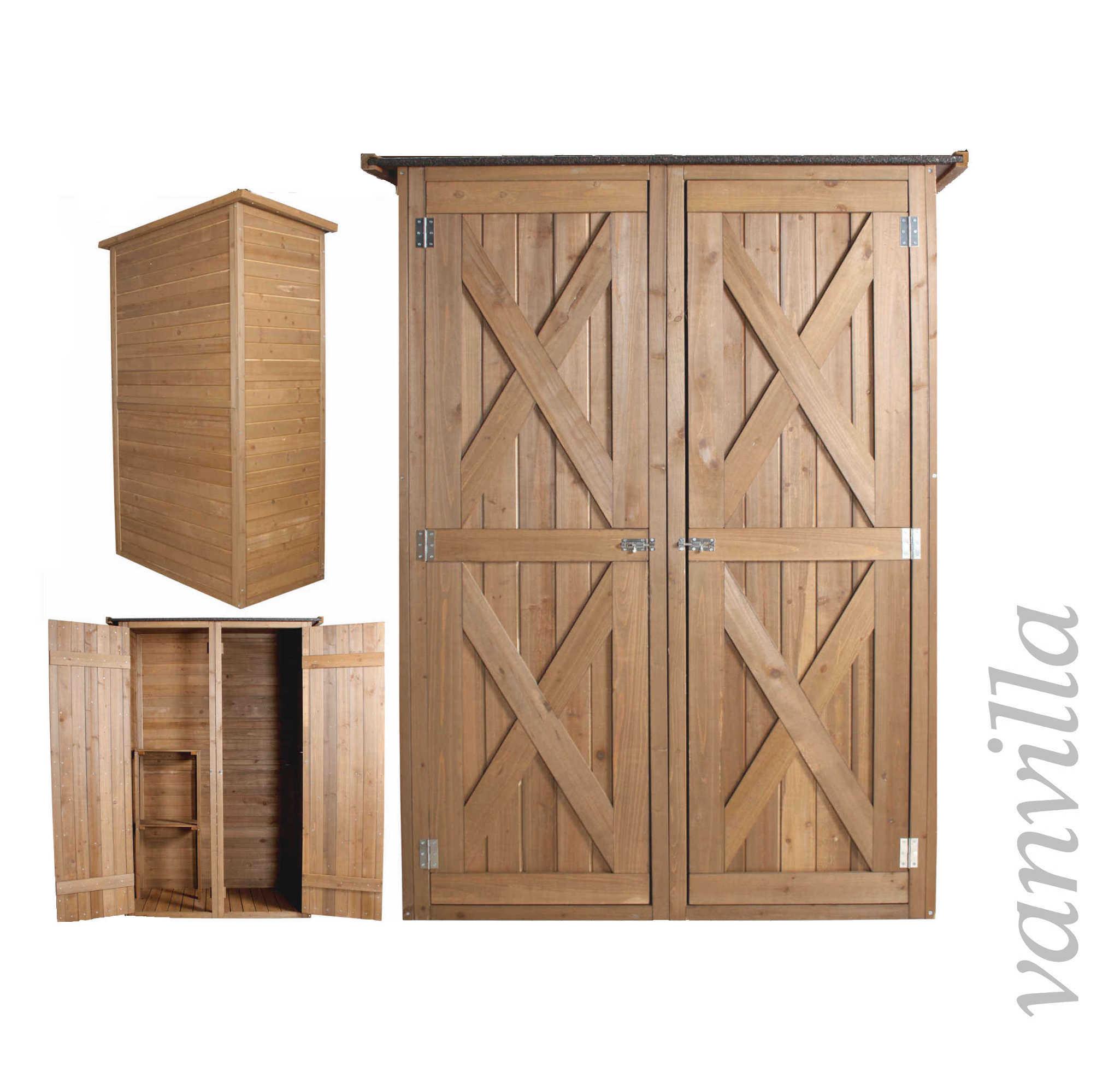 ger teschrank ger teschuppen vanvilla gartenhaus holz schuppen ger tehaus ebay. Black Bedroom Furniture Sets. Home Design Ideas