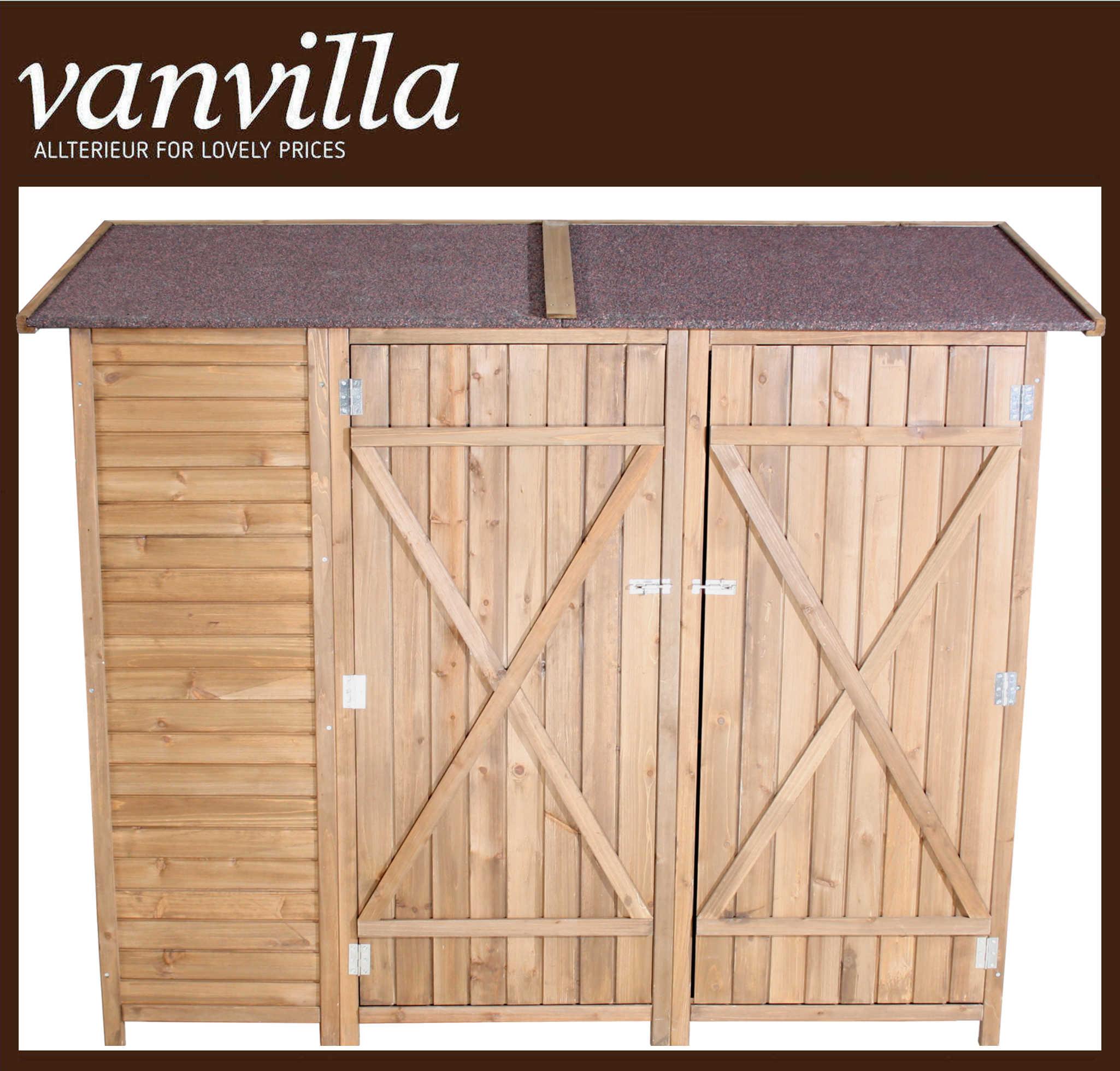 vanvilla ger teschuppen flachdach doppelschrank dfg01501 db dunkel. Black Bedroom Furniture Sets. Home Design Ideas
