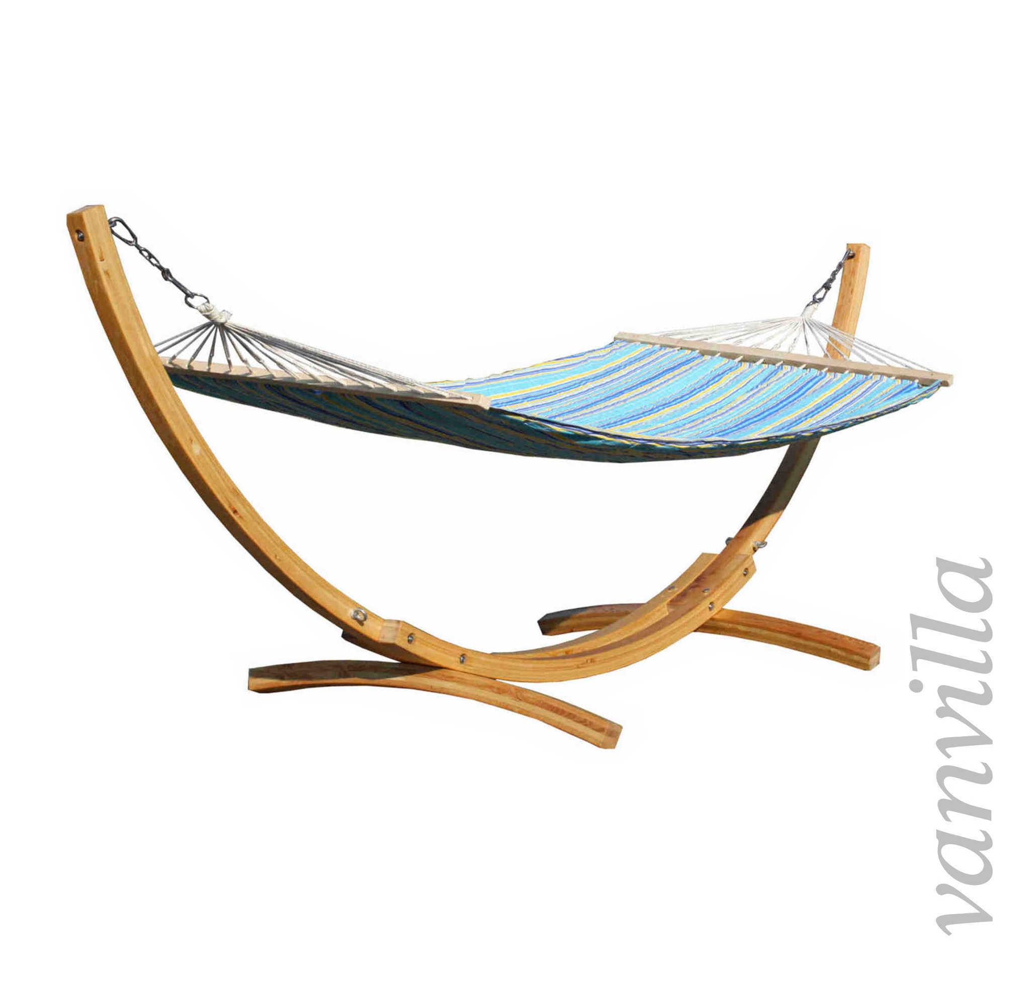 vanvilla h ngematte holz mit gestell h ngemattengestell mit matte gartenliege ebay. Black Bedroom Furniture Sets. Home Design Ideas
