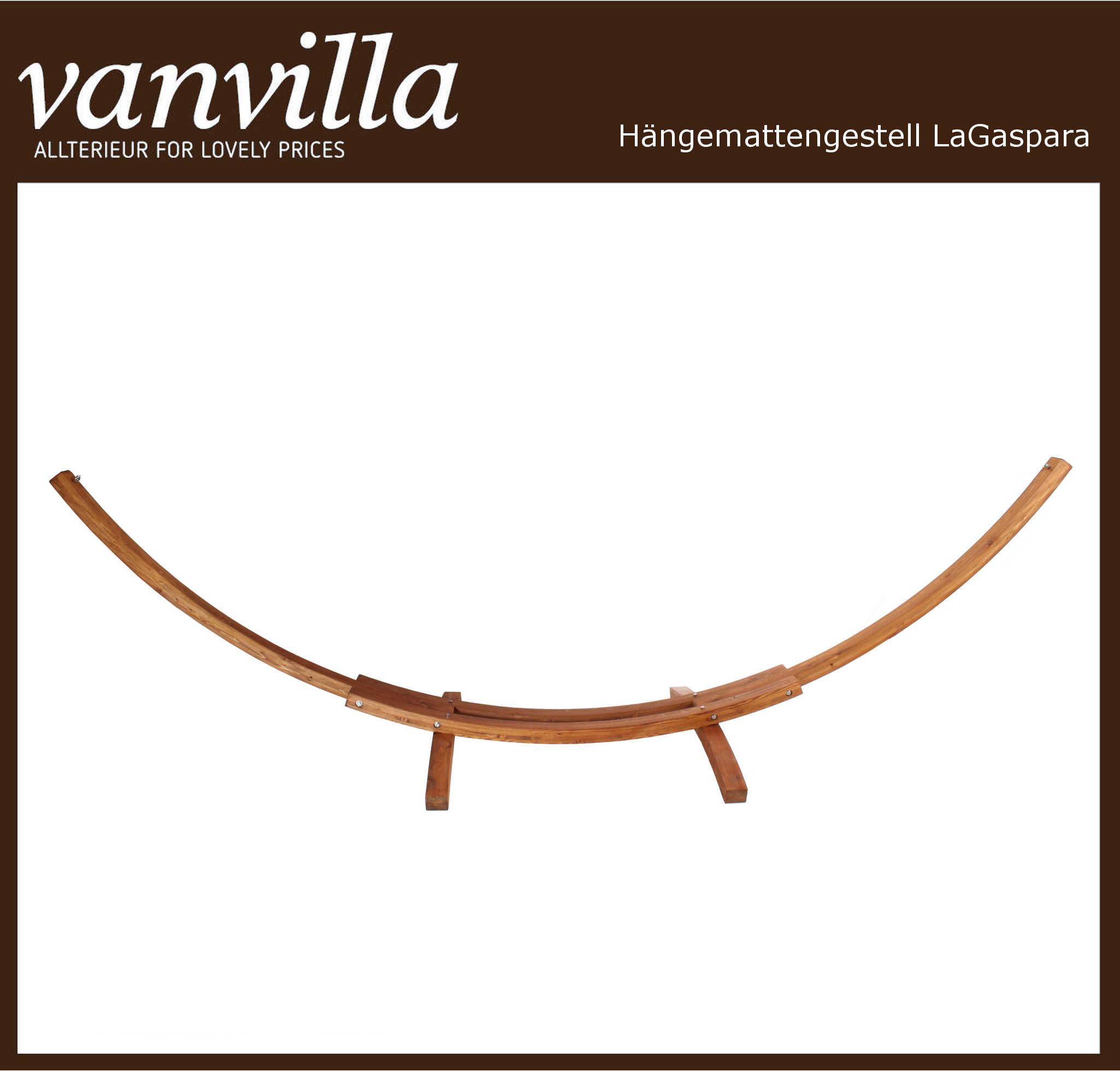 vanvilla Gestell für Hängematte LaGaspara, Farbe TEAK