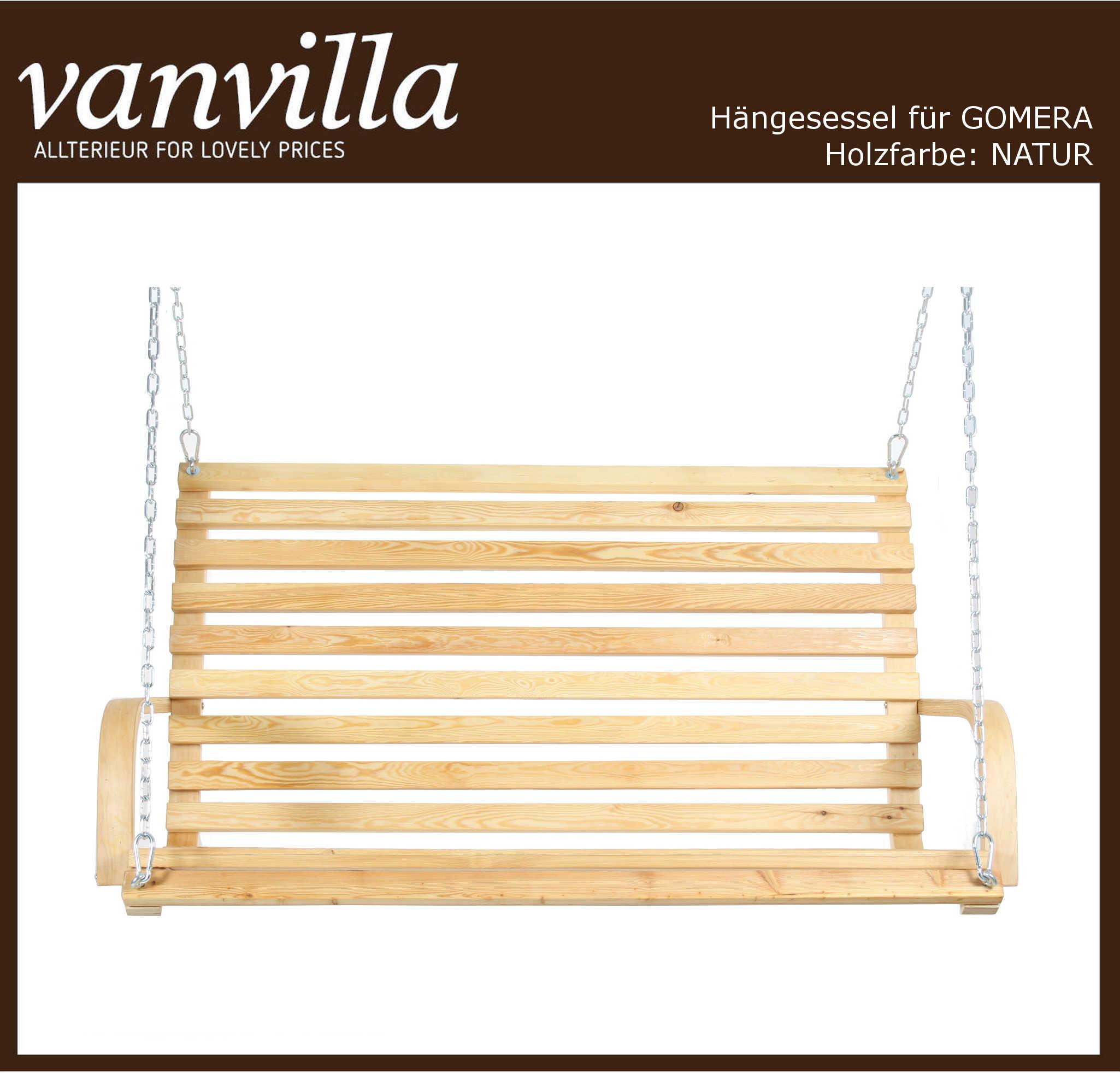 vanvilla Sessel für Hollywoodschaukel Gomera NATUR