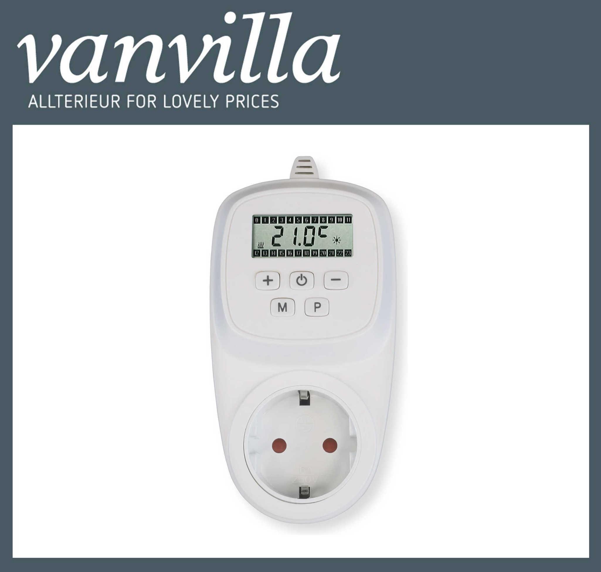 vanvilla Steckdosenthermostat programmierbar für Infrarotpaneel