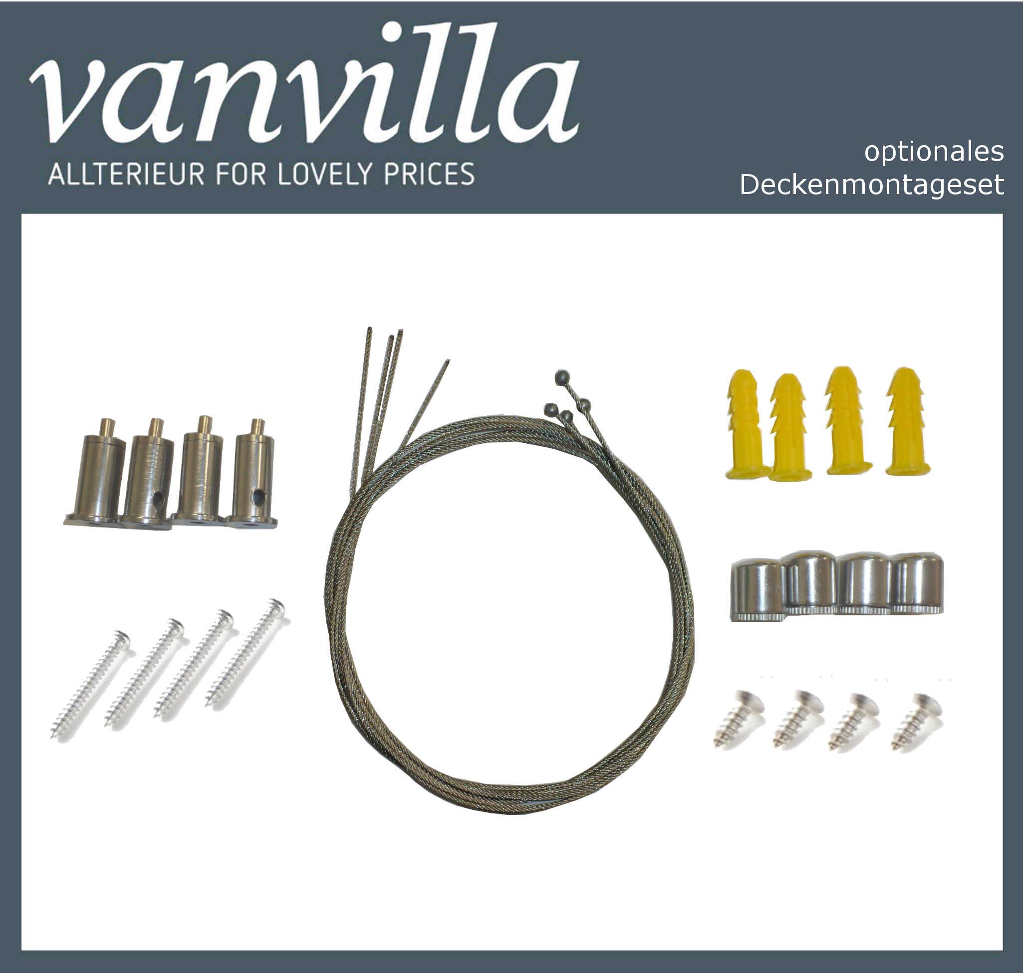 vanvilla Deckenmontageset für Infrarotpaneel