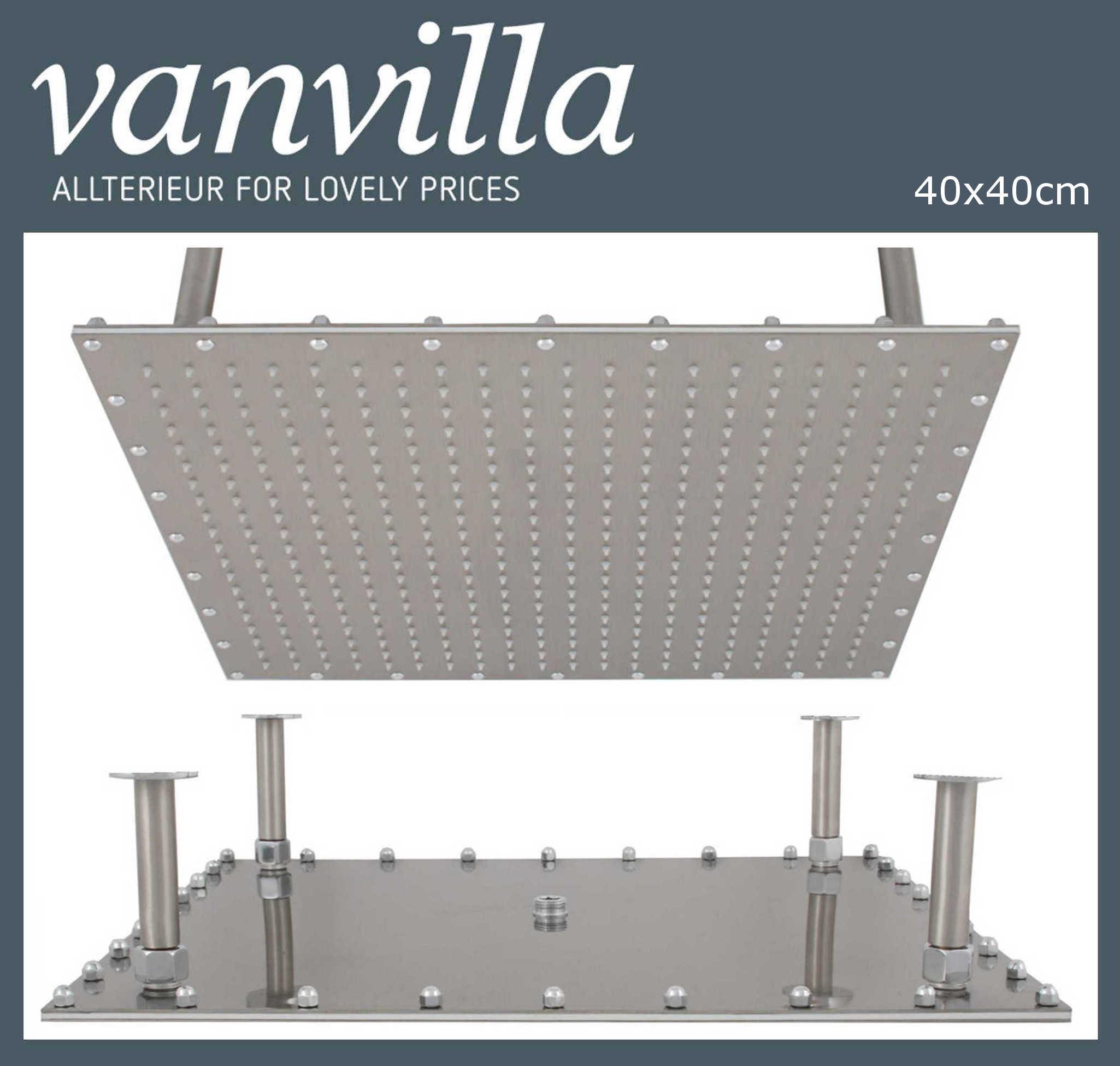 Vanvilla slim design duschkopf regendusche 40 50 60cm edelstahl regenbrause - Quadratische edelstahl designer duschkopf ...