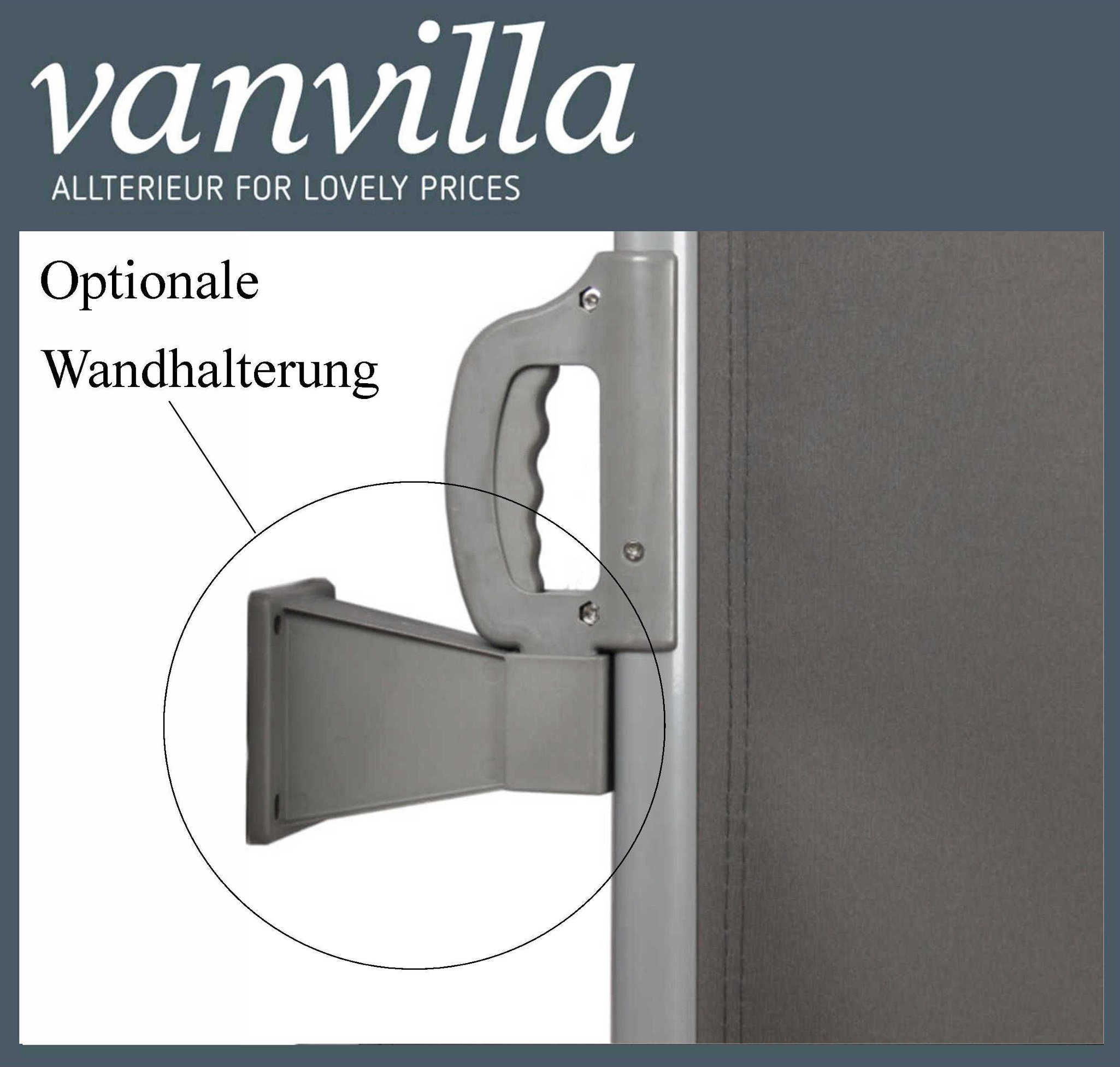 Vanvilla Doppel Seitenmarkise Sichtschutz Windschutz Sonnenschutz