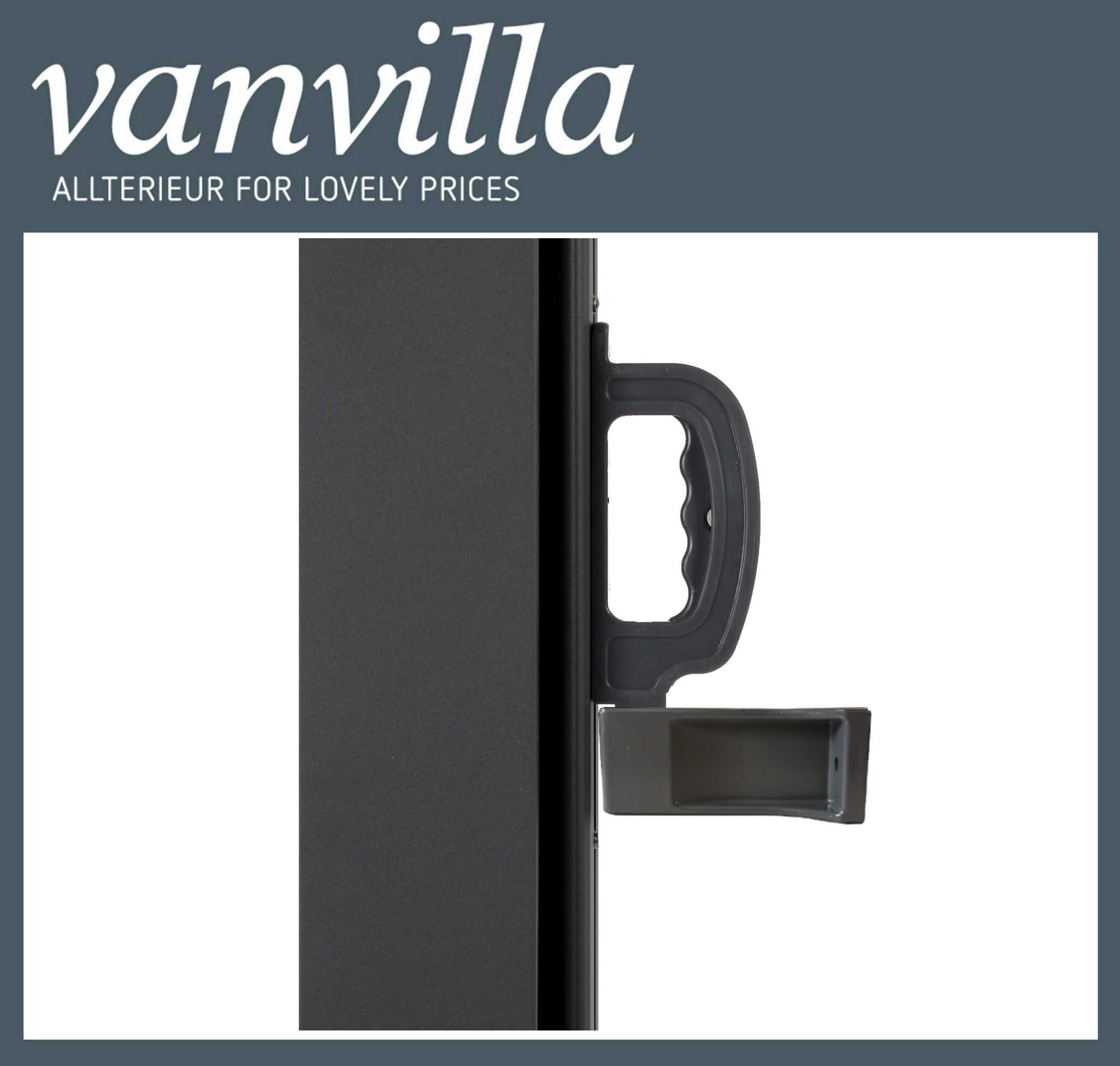 vanvilla Auszugsfixierung Wandbefestigung für Seitenmarkise Stahlkassette
