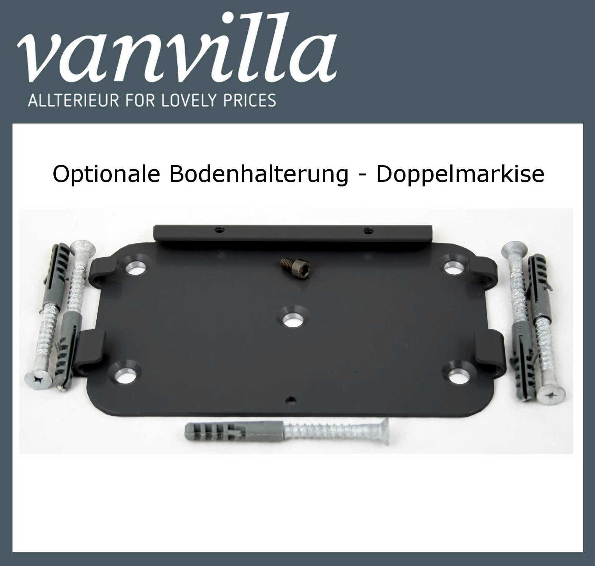 vanvilla Bodenhalterung für Doppelmarkise (Kassette) Anthrazit RAL 7016