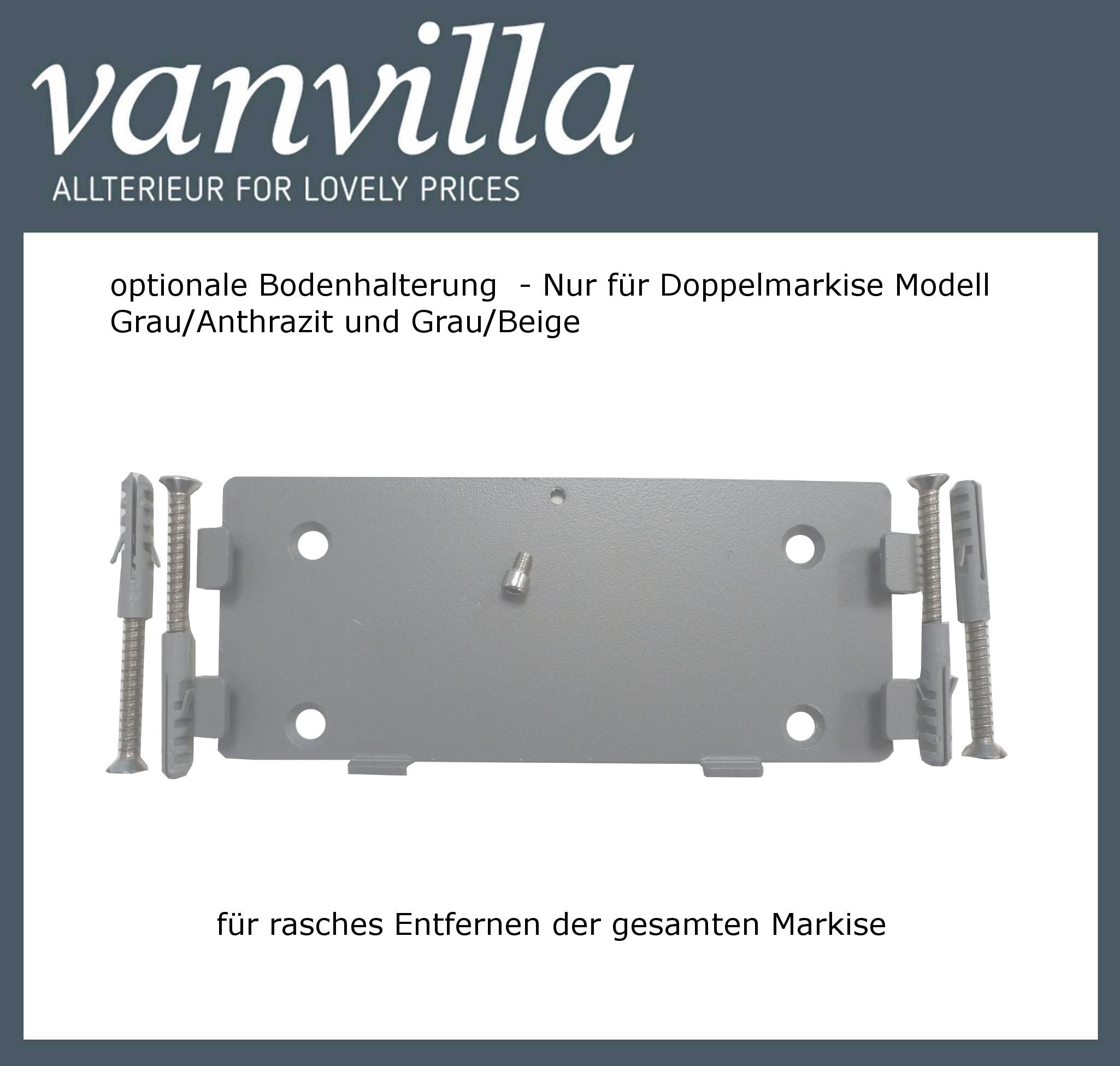 vanvilla Bodenhalterung für Doppelmarkise (Kassette) für Modell MA