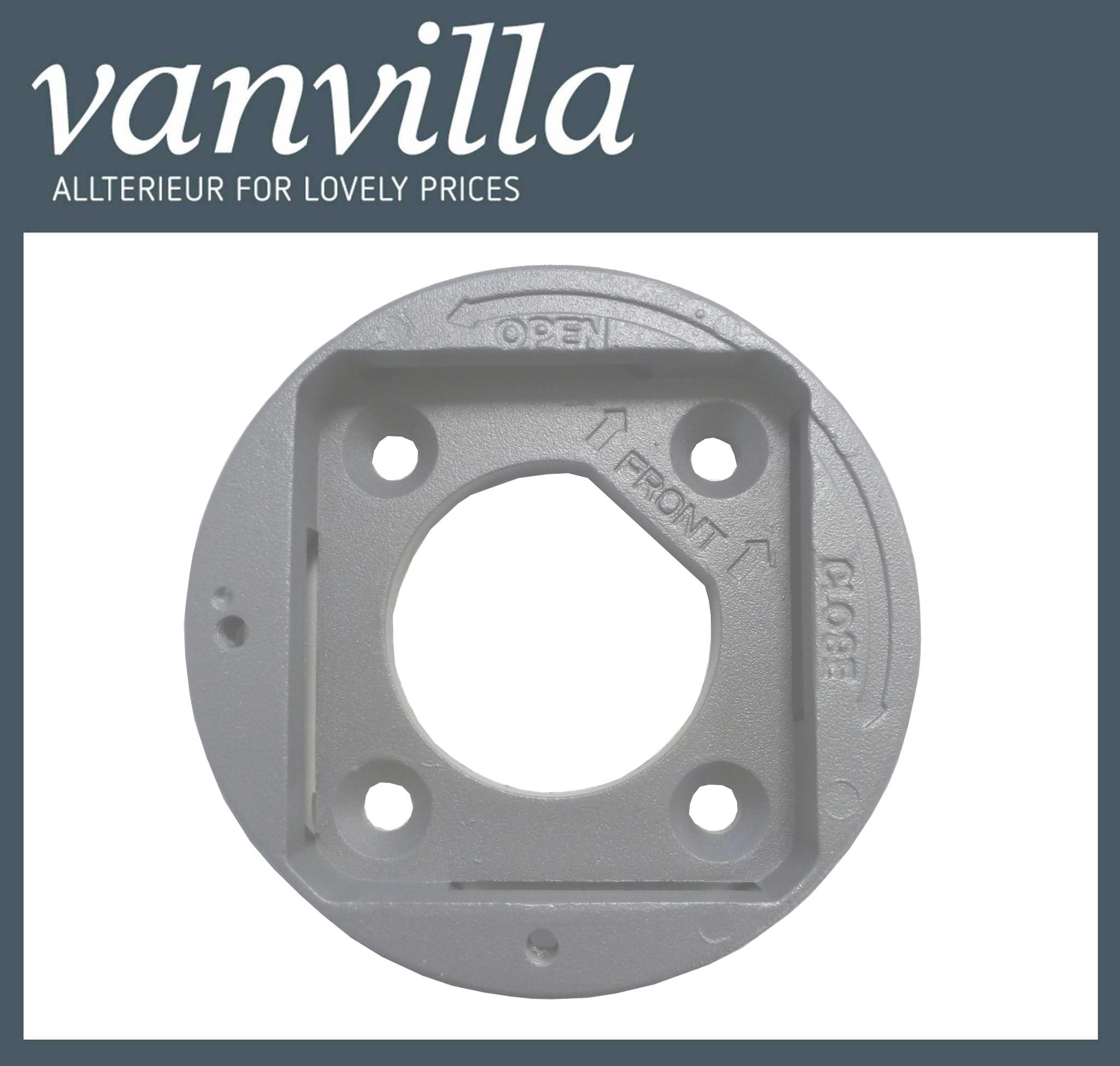 vanvilla Bodenhalterung für Auszug Seitenmarkise Modell MA Grau