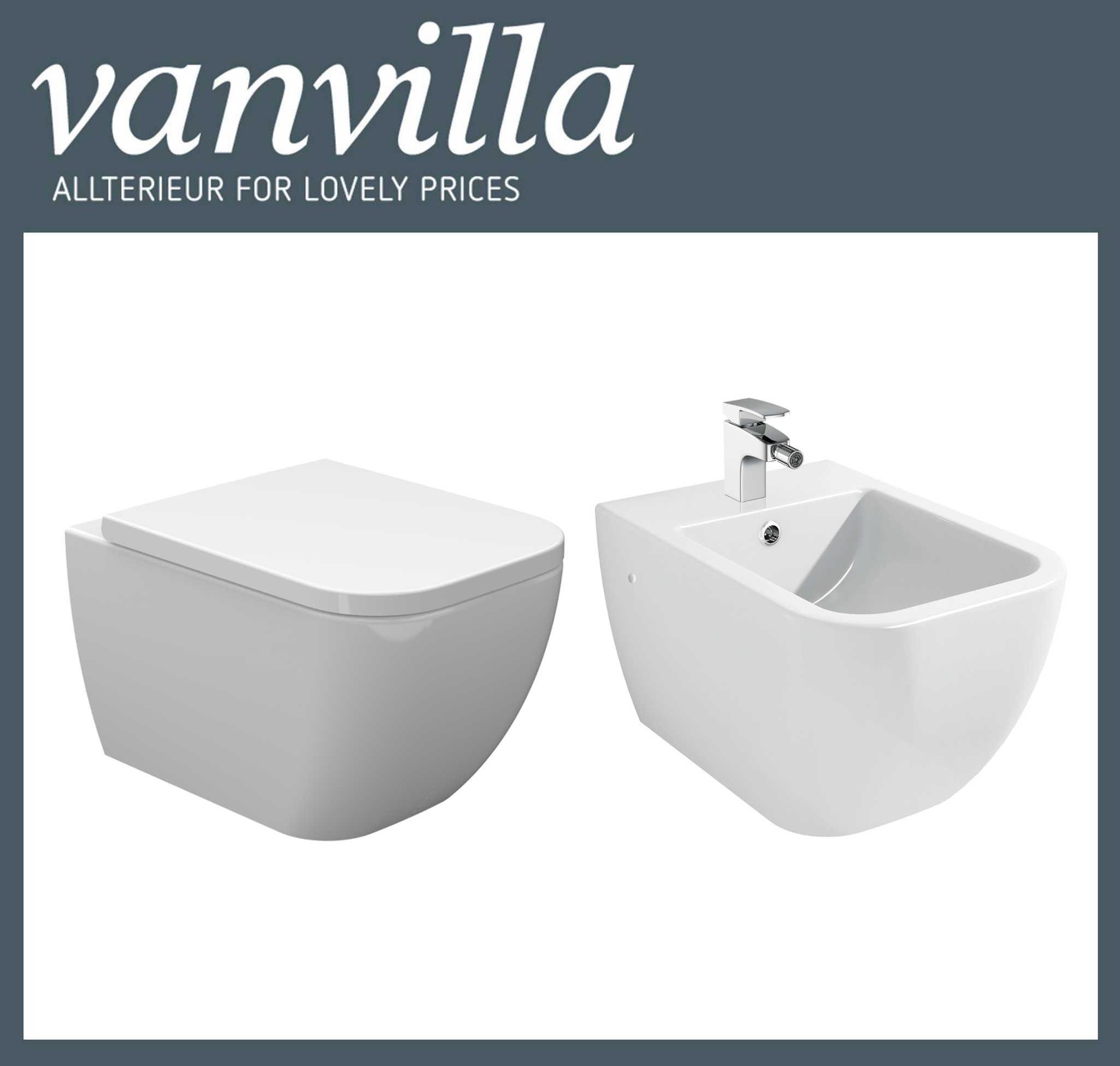 vanvilla design h nge wc bidet tara set. Black Bedroom Furniture Sets. Home Design Ideas
