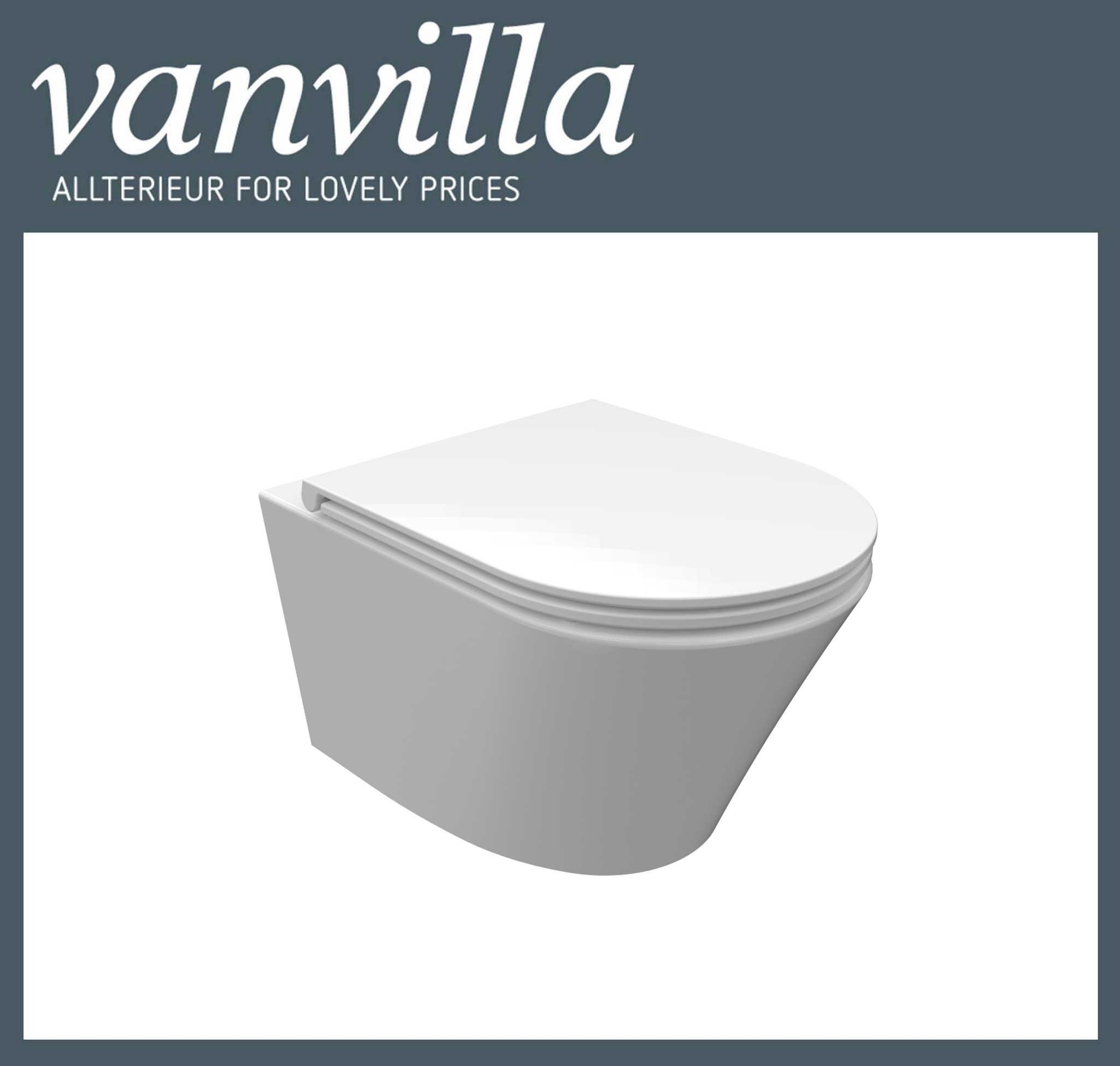 vanvilla Design Hänge WC Luanda inkl. Soft close spülrandlos rimless