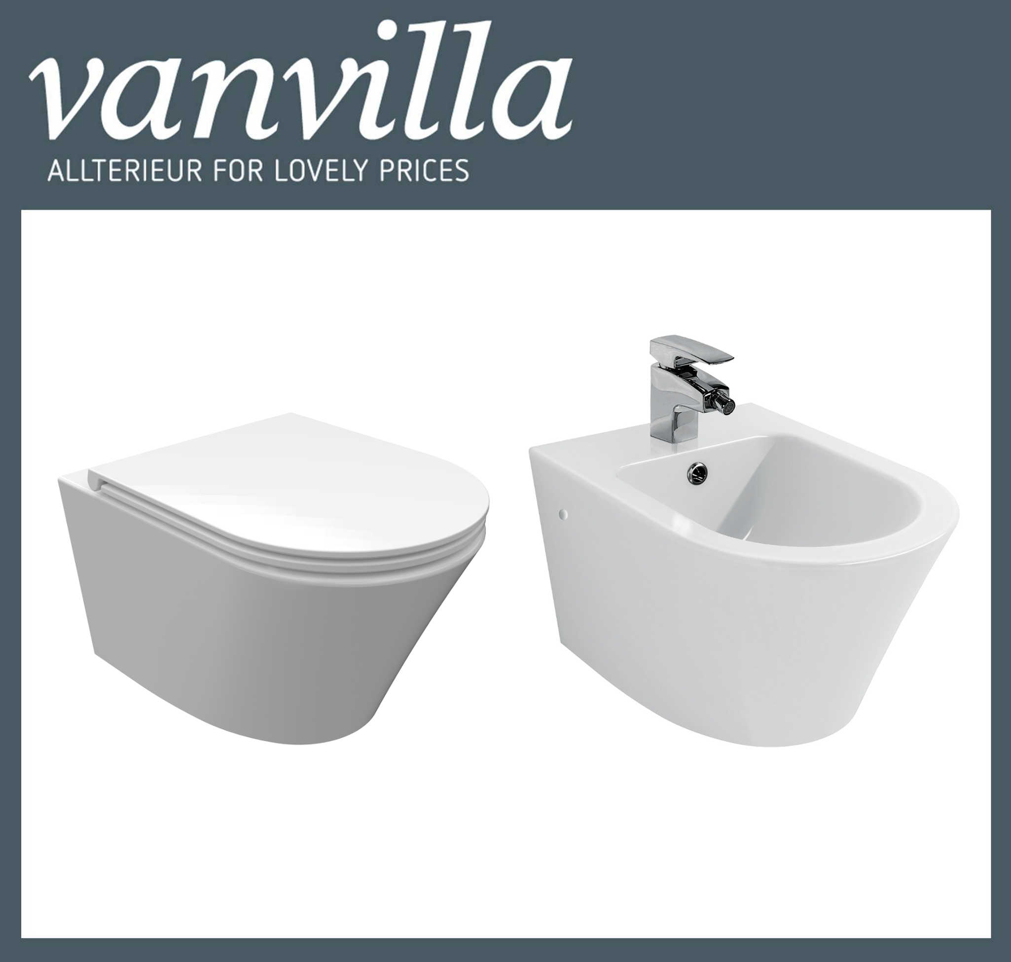 vanvilla design h nge wc sp lrandlos rimless bidet luanda set. Black Bedroom Furniture Sets. Home Design Ideas