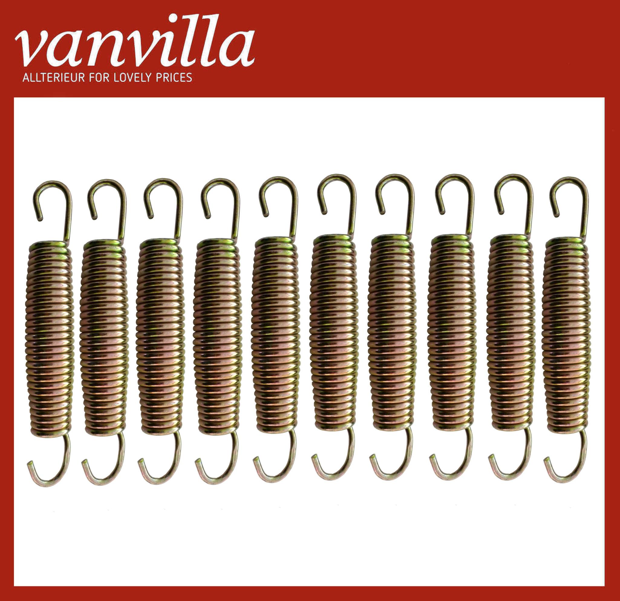 vanvilla Trampolin Federn Sprungfeder Ersatzfedern Trampolinfedern 14,5cm 10 Stk